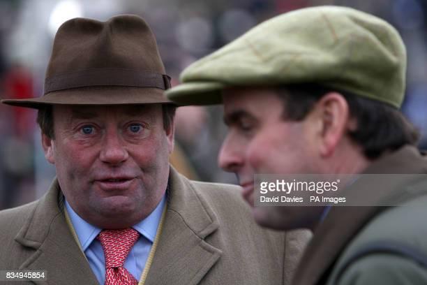 National Hunt horse trainer Nicky Henderson during the Boylesports International meeting at Cheltenham Racecourse