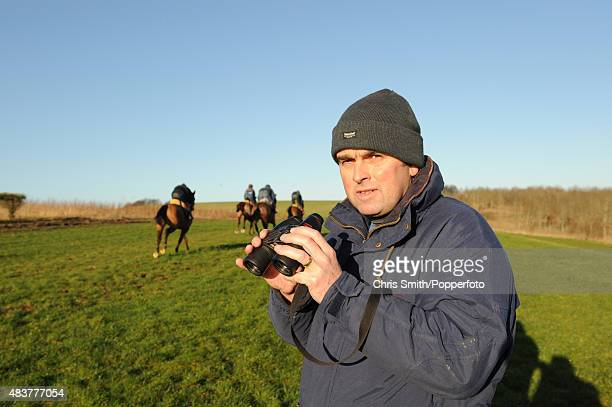 National Hunt racing trainer Alan King at work 4th January 2007