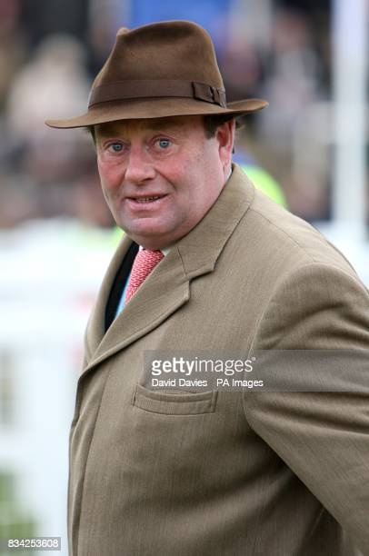 National Hunt trainer Nicky Henderson at the Cheltenham Festival