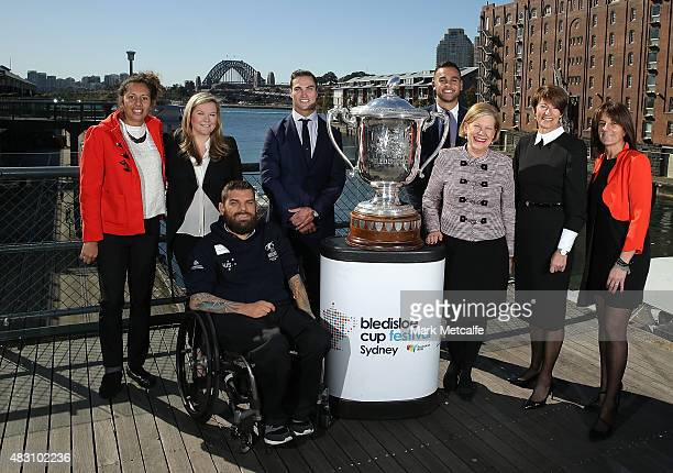 National Indigenous Women's Sevens player Tallisha Harden Microsoft Australia Managing Director Pip Marlow Wheelchair rugby player Ryan Scott Men's...