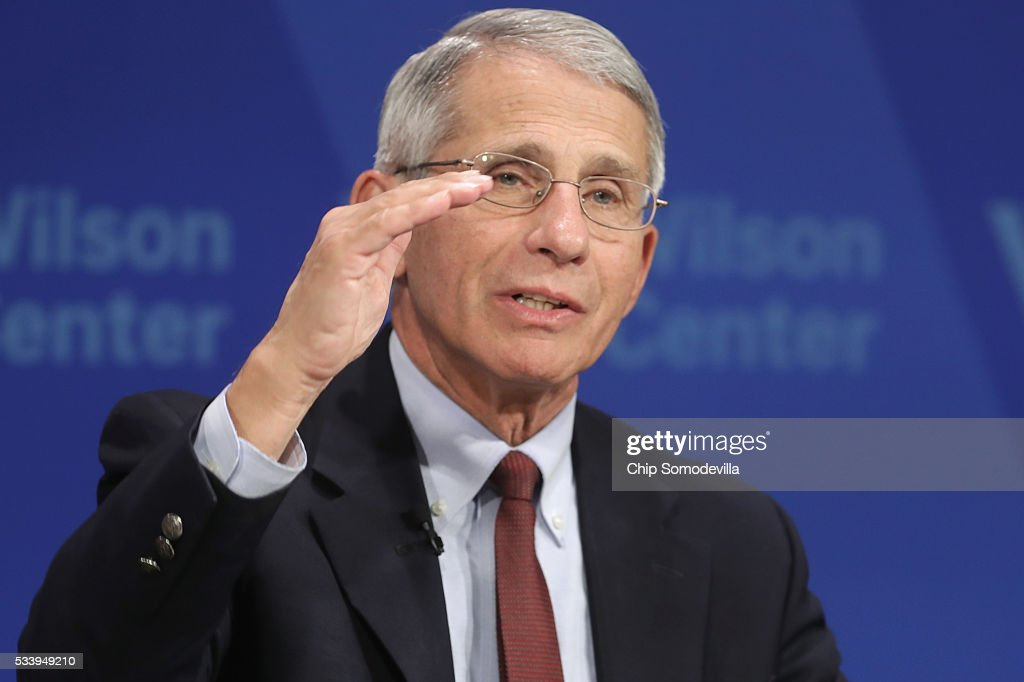 National Institute of Allergy and Infectious Director <a gi-track='captionPersonalityLinkClicked' href=/galleries/search?phrase=Anthony+Fauci&family=editorial&specificpeople=964622 ng-click='$event.stopPropagation()'>Anthony Fauci</a> participates in a discussion on 'Zika in the U.S.: Can We Manage the Risk?' at the Woodrow Wilson Center May 24, 2016 in Washington, DC. A mosquito borne virus, Zika is expected to arrive in the United States this summer. Fauci noted that 80-percent of people infected with Zika never show symptoms of the disease and encourgaed people who have traveled to places with outbreaks should continue to wear mosquito repellant long after returning to the United States to reduce the risk of spreading the virus.