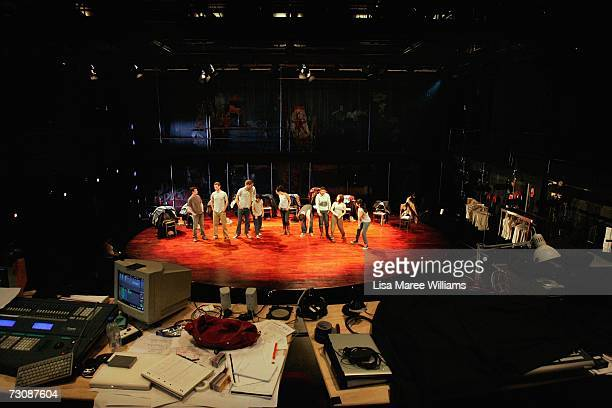 National Institute of Dramatic Art acting students rehearse for the stage production of 'The Laramie Project' 2006 October 4 2006 in Sydney Australia...
