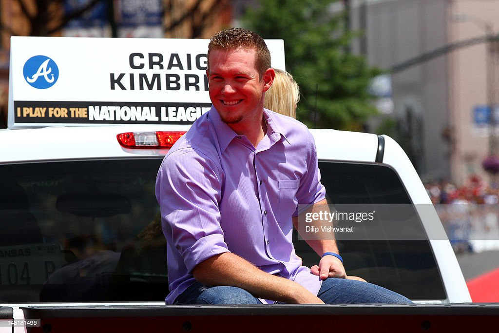 National League All-Star <a gi-track='captionPersonalityLinkClicked' href=/galleries/search?phrase=Craig+Kimbrel&family=editorial&specificpeople=6795784 ng-click='$event.stopPropagation()'>Craig Kimbrel</a> #46 of the Atlanta Braves smiles during the All-Star Game Red Carpet Show presented by Chevrolet on July 10, 2012 in Kansas City, Missouri.