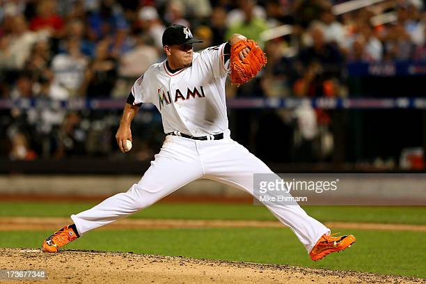 National League AllStar Jose Fernandez of the Miami Marlins pitches during the 84th MLB AllStar Game on July 16 2013 at Citi Field in the Flushing...