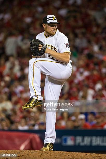 National League AllStar Mark Melancon of the Pittsburgh Pirates pitches during the 86th MLB AllStar Game at the Great American Ball Park on July 14...