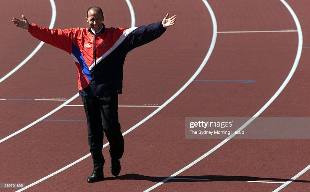 National long distance running coach Said Aouita after a press conference at the Australian Institute of Sport Canberra 4 September 2002 SMH Sport...
