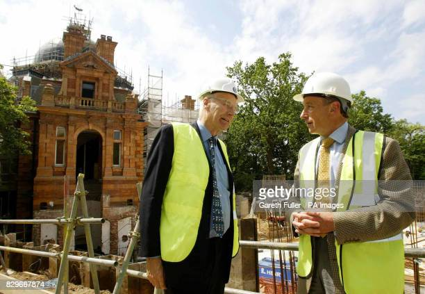 National Maritime Museum director Roy Clare and fundraising chairman and broadcaster Peter Snow view building work which has begun at the new 15...