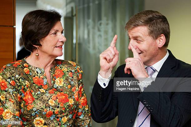 National MPs Bill English and Anne Tolley speak prior to ACT MP David Seymour's appointment as a Parliamentary UnderSecretary at The Beehive on...