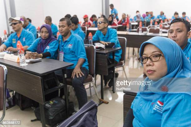 National Paralympic Commitee Banten held the meeting for preparation for Asean Games in Tangerang Banten Indonesia 18 October 2017 Although Some...