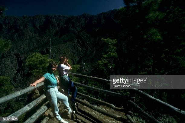 National Park Caldera de Taburiente Las Palmas island Hikers