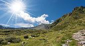 Alpine peaks (Re di Castello) in the National Park of Adamello Brenta. Trentino Alto Adige and Lombardia, Italy, Europe