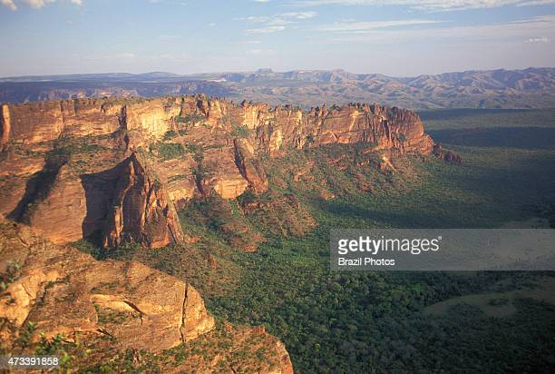 National Park of Chapada dos Guimaraes a county and a mountain range located in central Brazil 62 km from the city of Cuiaba the capital of Mato...
