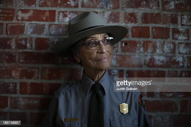 National Park Service ranger Betty Reid Soskin poses for a portrait at the Rosie the Riveter/World War II Home Front National Historical Park on...
