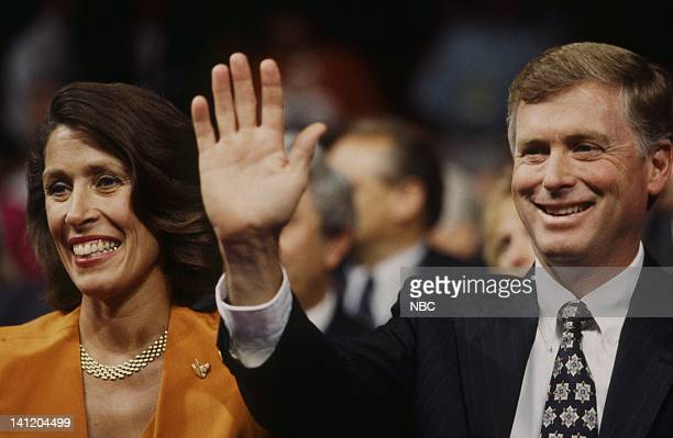 National Party Conventions '1992 Republican National Convention' Pictured Wife of the VIce President Marilyn Quayle Incumbent Vice President Dan...