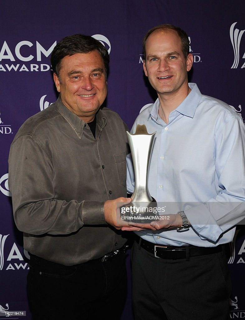 National Personality of The Year Lon Helton and Dial Global EVP/GM Music & Entertainment Division and Affiliate Sales Max Krasney attend the ACM Radio Awards Reception at the MGM Grand Hotel/Casino on March 31, 2012 in Las Vegas, Nevada.