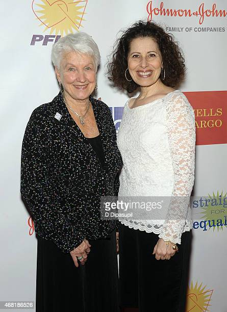 National PFLAG President Jean Hodges and author Leslea Newman attend the 7th Annual PFLAG National Straight For Equality Awards Gala at The New York...