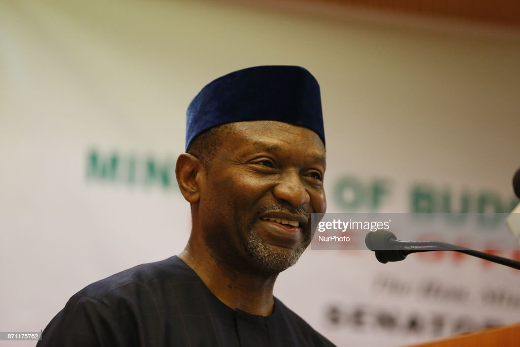 National Planning minister Udoma u. Udoma speaks during the presentation of the 2018 Appropriation bill in Abuja, Nigeria. 14th November 2017.