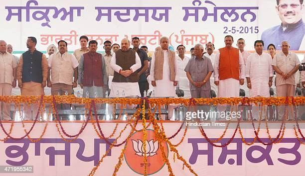 National President Amit Shah Union Minister Vijay Sampla State president Kamal Sharma National General Secretary Orgnisition Ram Lal National...