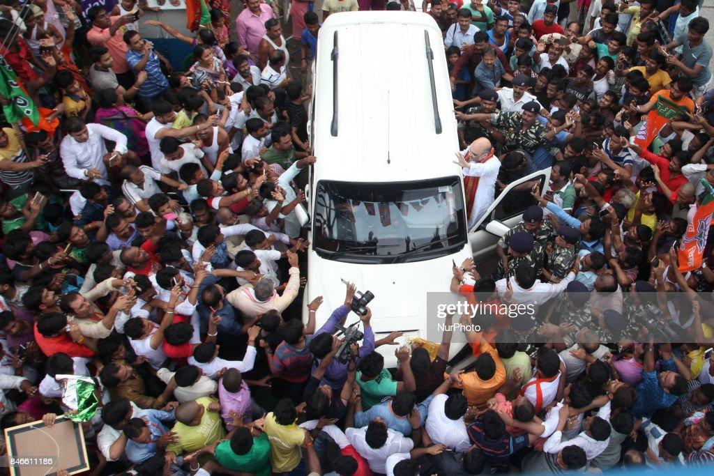 BJP National President Amit Shah visit North Kolkata cossipore Lokegate a slum area on September 13,2017 in Kolkata,India.