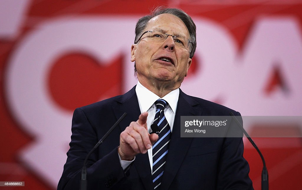 National Rifle Association Executive Vice President <a gi-track='captionPersonalityLinkClicked' href=/galleries/search?phrase=Wayne+LaPierre&family=editorial&specificpeople=2488494 ng-click='$event.stopPropagation()'>Wayne LaPierre</a> speaks at the 42nd annual Conservative Political Action Conference (CPAC) February 27, 2015 in National Harbor, Maryland. Conservative activists attended the annual political conference to discuss their agenda.