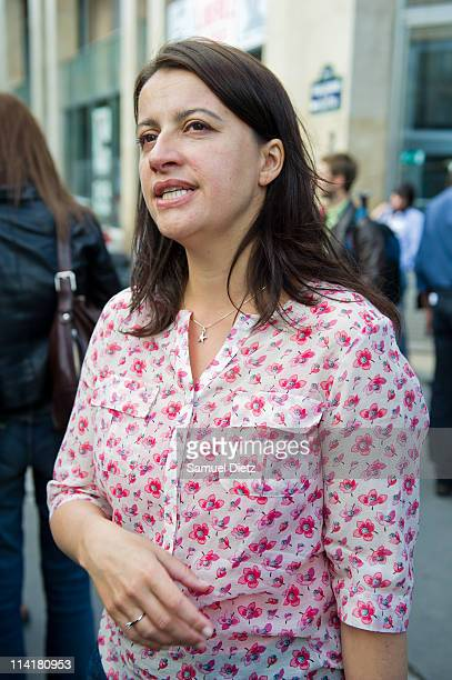 National Secretary of french ecologist party 'Europe Ecologie Les Verts' Cecile Duflot attends the party representants meeting on May 14 2011 in...