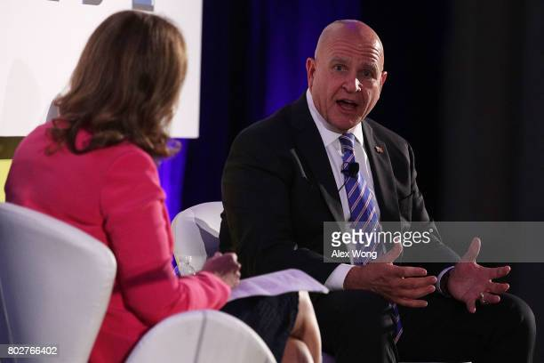 National Security Adviser HR McMaster participates in a discussion during the Center for a New American Security '2017 Navigating the Divide...