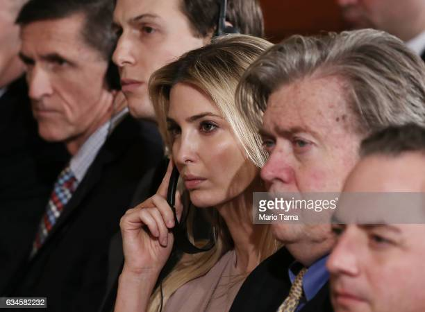 National Security Adviser Michael Flynn senior adviser Jared Kushner Ivanka Trump Steve Bannon Chief Strategist for US President Donald Trump and...
