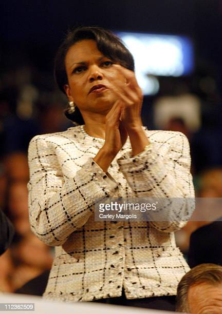 National Security Advisor Condoleezza Rice during 2004 Republican National Convention Day 4 Inside at Madison Square Garden in New York City New York...