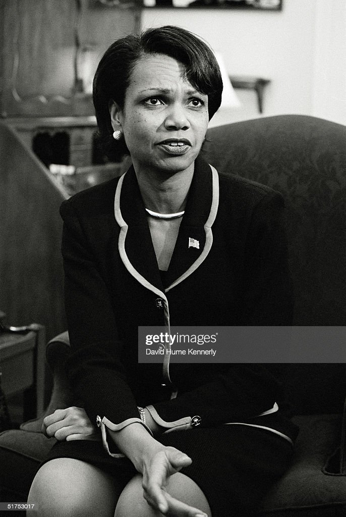 National Security Advisor Condoleezza Rice waits prior to briefing the press at the White House September 19, 2001 in Washington, DC.