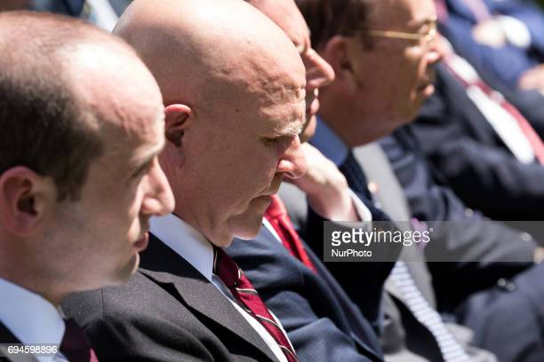US National Security Advisor H R McMaster attended the joint press conference of President Donald Trump and President Klaus Iohannis of Romania in...