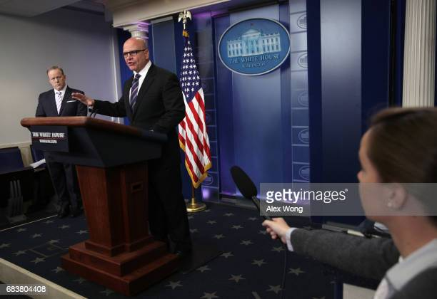 National security advisor HR McMaster speaks during a press briefing in the Brady Press Briefing Room at the White House May 16 2017 in Washington DC...