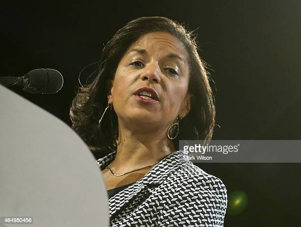 S National Security Advisor Susan Rice speaks during the American Israel Public Affairs Committee 2015 Policy Conference March 2 2015 in Washington...