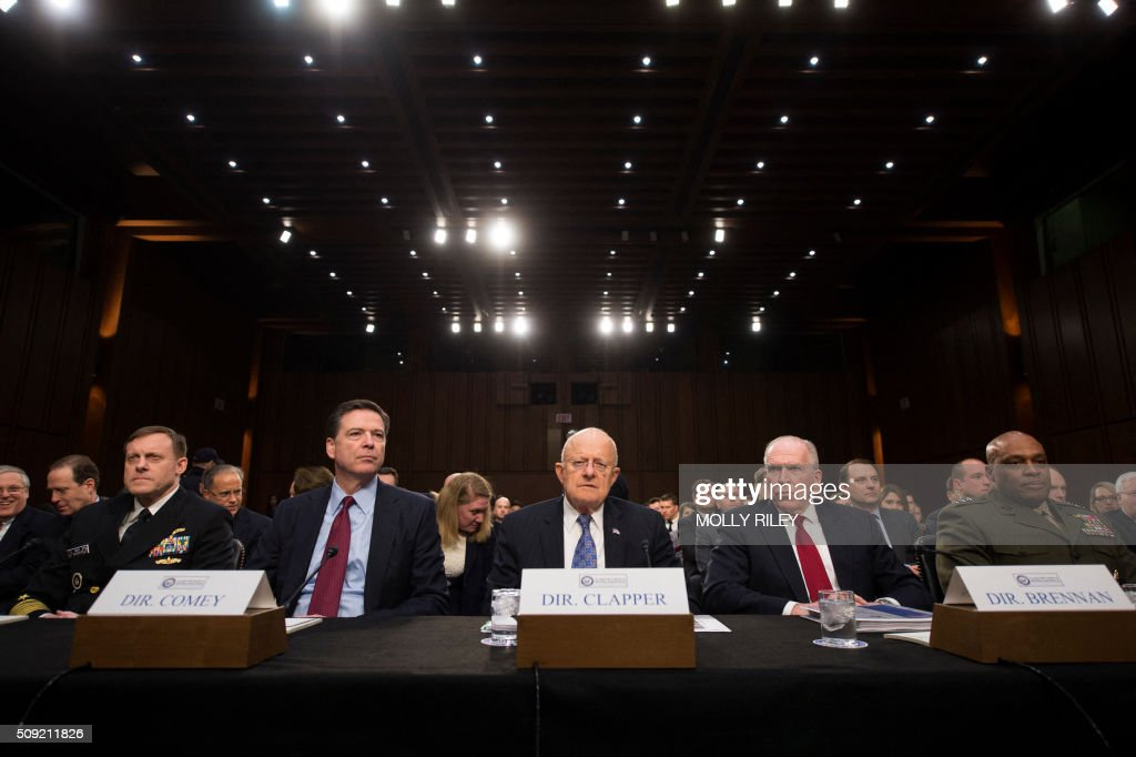 Image result for IMAGES OF COMEY ROGERS CLAPPER BRENNAN