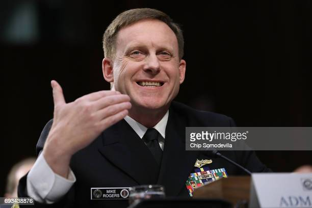 National Security Agency Director Adm Michael Rogers testifies before the Senate Intelligence Committee in the Hart Senate Office Building on Capitol...