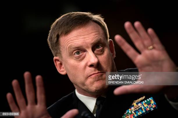 National Security Agency Director Michael Rogers testifies during a Senate Select Intelligence Committee hearing on the Foreign Intelligence...