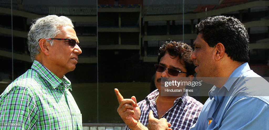 National Selectors Mohinder Amarnath, <a gi-track='captionPersonalityLinkClicked' href=/galleries/search?phrase=Narendra+Hirwani&family=editorial&specificpeople=466618 ng-click='$event.stopPropagation()'>Narendra Hirwani</a> and Surendra Bhave during the Vijay Hazare Trophy final played between Mumbai and West Bengal at Ferozshah Kotla on March 12, 2012 in New Delhi, India. After restricting Mumbai team to 248 all out, West Bengal made short of the score with 23 balls to spare and six wickets in hands.