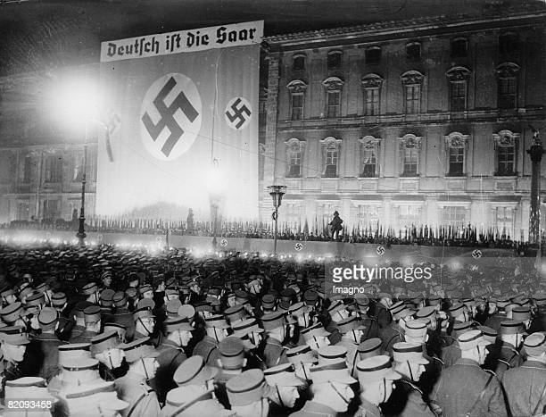National socialists are celebrating the annexation of the Saarland to the German Reich Lustgarten Berlin Photograph 1935 [Die Nationalsozialisten...