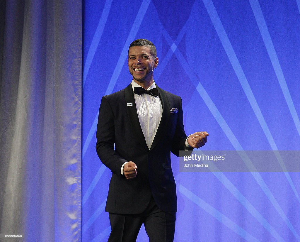 GLAAD national spokesperson <a gi-track='captionPersonalityLinkClicked' href=/galleries/search?phrase=Wilson+Cruz&family=editorial&specificpeople=660625 ng-click='$event.stopPropagation()'>Wilson Cruz</a> adrresses the attendees during the 24th Annual GLAAD Media Awards at the Hilton San Francisco - Union Square on May 11, 2013 in San Francisco, California.