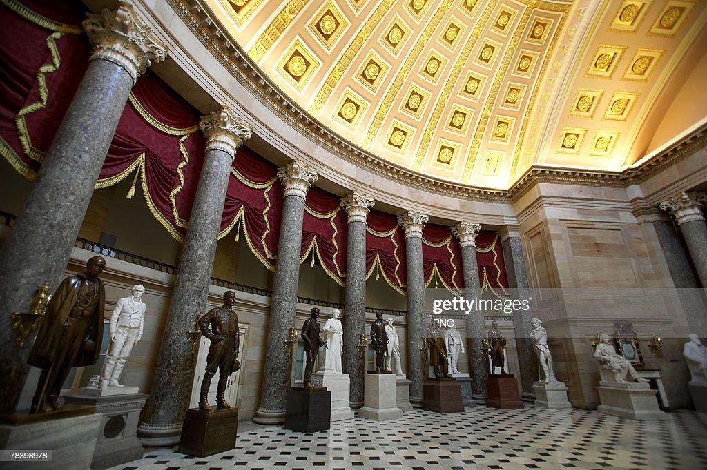 National Statuary Hall, United States Capitol, Washington DC : Stock Photo