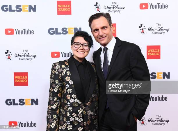 National Student Council Member Marcus Breed and honoree Tony Goldwyn at the 2017 GLSEN Respect Awards at the Beverly Wilshire Hotel on October 20...