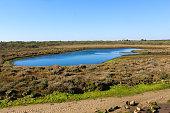overview of National swamp of Vila Real de Santo Antonio in porugal