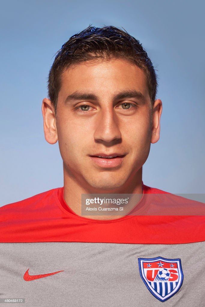 US national team, <a gi-track='captionPersonalityLinkClicked' href=/galleries/search?phrase=Alejandro+Bedoya&family=editorial&specificpeople=6703886 ng-click='$event.stopPropagation()'>Alejandro Bedoya</a> is photographed for Sports Illustrated on May 24, 2014 in Palo Alto, California.