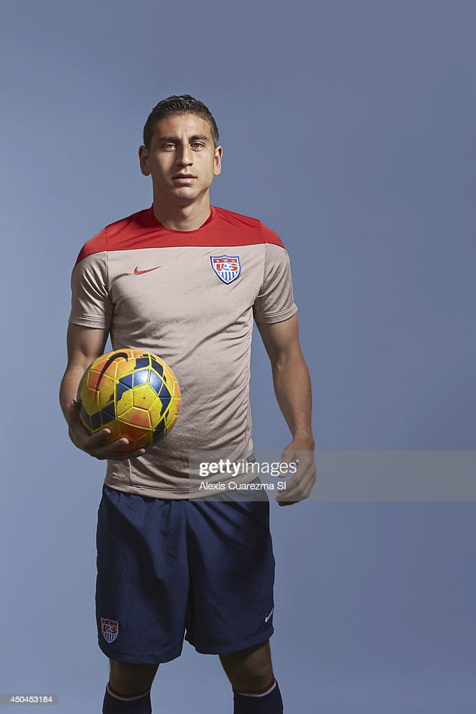 US national team, <a gi-track='captionPersonalityLinkClicked' href=/galleries/search?phrase=Alejandro+Bedoya&family=editorial&specificpeople=6703886 ng-click='$event.stopPropagation()'>Alejandro Bedoya</a> is photographed for Sports Illustrated on May 24, 2014 in Palo Alto, California. PUBLISHED IMAGE.