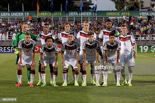 National team of Germany during the UEFA U19 Championship 2015 final tournament match between Netherlands vs Germany on July 10 2015 in Katerini...