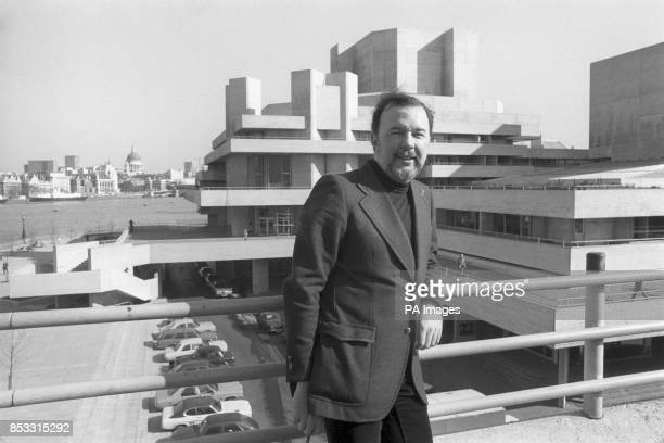 National Theatre director Peter Hall at the theatre's new home on the South Bank in London