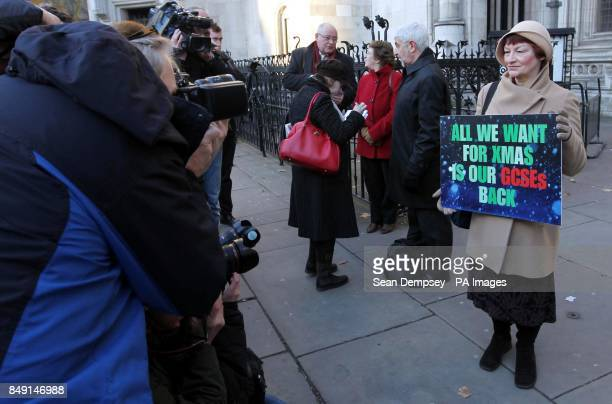 National Union of Teacher's General Secretary Christine Blower arriving at the High Court in London where the legal challenge over this summer's GCSE...