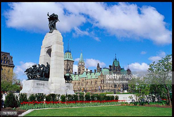 National War Memorial and Canadian Parliament