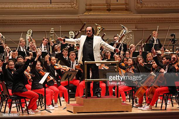 National Youth Orchestra of the United States of America performing at Carnegie Hall on Saturday night July 11 2015This imageCharles Dutoit leading...