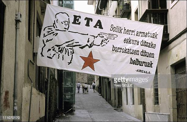 Nationalism in Basque country in Mondragon Spain in 2002