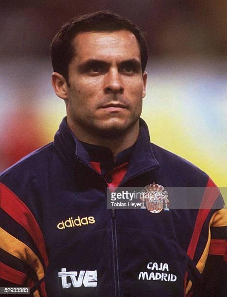 FUSSBALL Nationalmannschaft 1997/Team SPANIEN/ 111097 Barjuan SERGI Portrait/Portraet